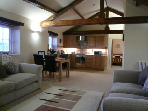 Carlton Mill, Carlisle, Open plan living area, Lakes cottage holidays