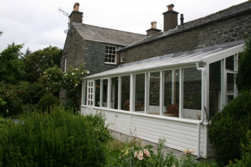 Coombe Cottage, Conservatory, Lakes Cottage Holidays