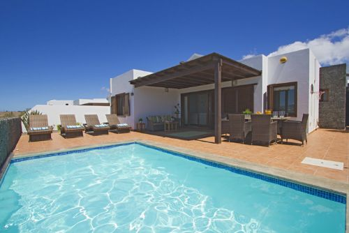 The stylish and comfortable Casa Maderita near the Marina Rubicon in Playa Blanca, Lanzarote