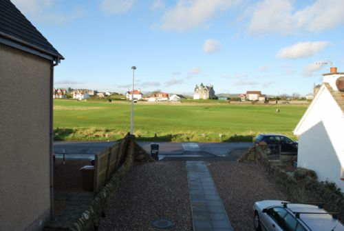 View of golf course from outside of house