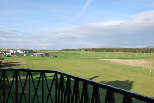 Balcony overlooking golf course