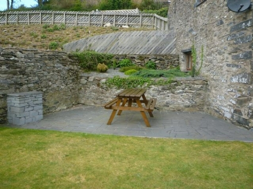 Bank End Cottage, Outdoor seating area, Lakes Cottage Holidays