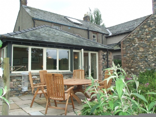 Greenbank Farmhouse, Rear garden, Lakes Cottage Holidays