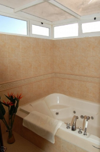 A bath in the ensuite