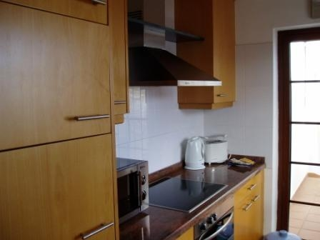 The well equipped kitchen has a hob, oven and microwave, dishwasher, fridge freezer -in fact everything you could need, including a washing machine
