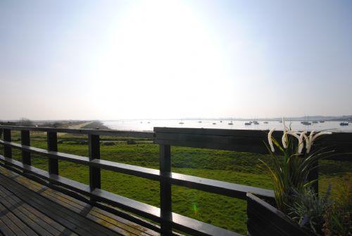 Balcony overlooking the water
