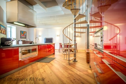 Kitchen is large, stylish, modern and well-equipped