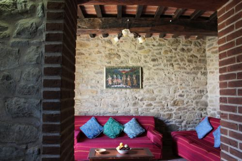 Sitting room of the villa