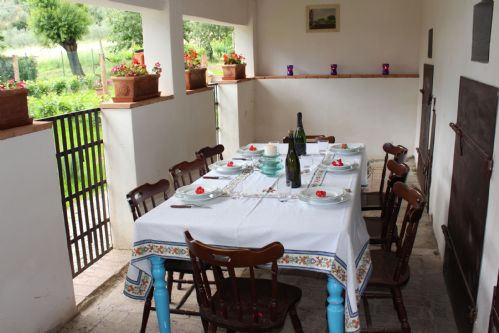 Outside dining setting