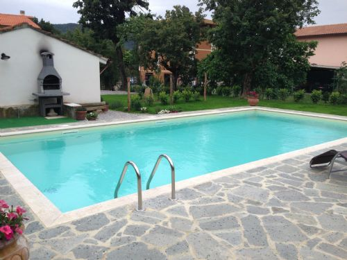 Pool and the barbecue area