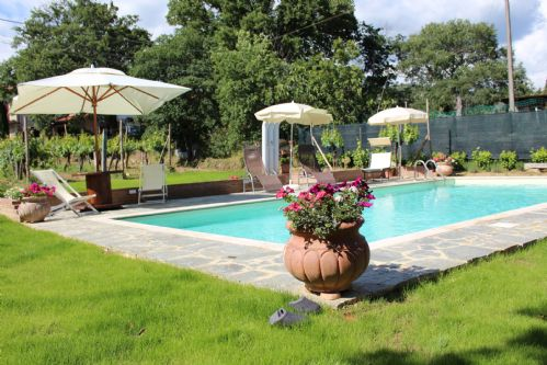 Gardens and private pool of Villa Nonna Tuscany