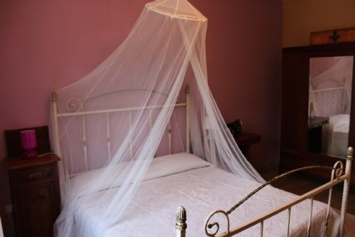 $ bedrooms, a dn four bathrooms, the Tuscan villa offers lots of space.
