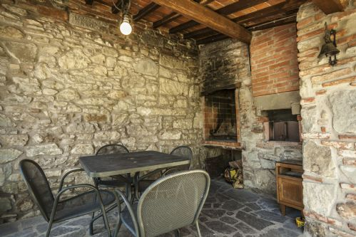 Barbecue area, this is a stone oven for many things - including pizza
