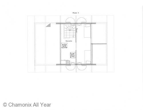 Floor plan of the mezzanine floor