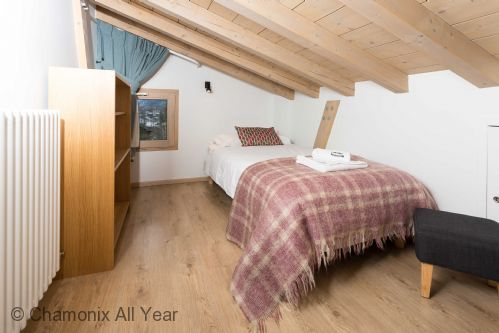 One of the single beds in the mezzanine twin room
