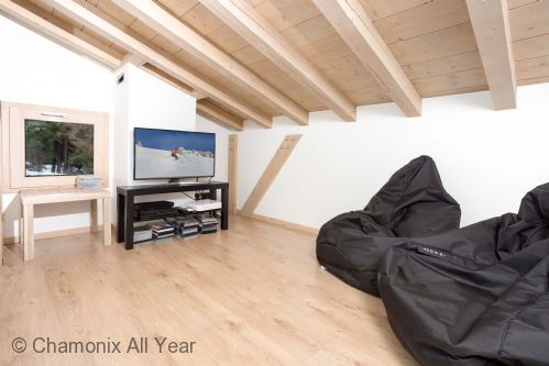 Mezzanine snug area with TV, DVD player and Playstation