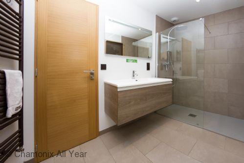 Bathroom on main level with Italian shower