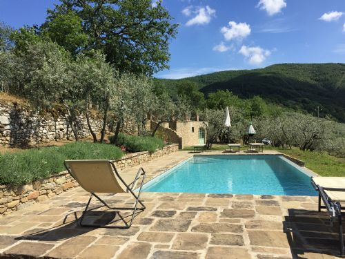 Tuscany Castello Roccolo Panoramic pool view