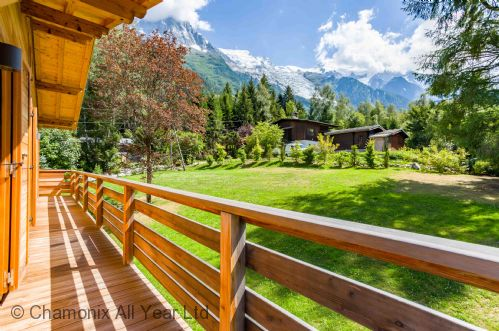 Stunning Mont Blanc views from the terrace