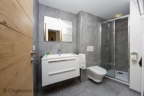 Bathroom with sink, walk-in shower and WC
