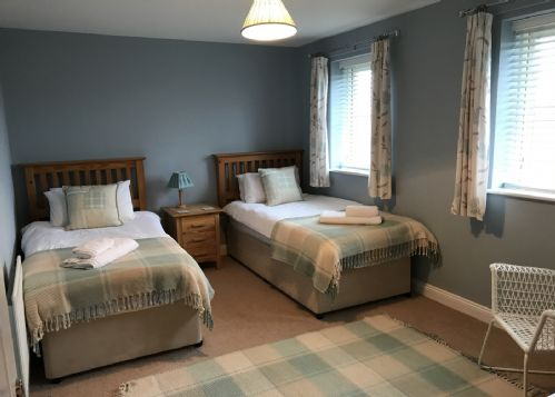Twin room at rear of property