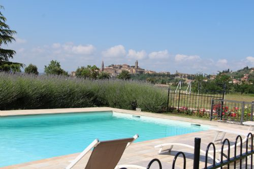 Villa Carla Tuscany, Private pool with views of Castiglion