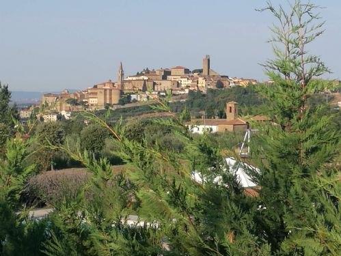 View of the Tuscan hill town