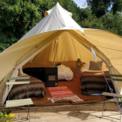 Upfront,up,front,reviews,accommodation,self,catering,rental,holiday,homes,cottages,feedback,information,genuine,trust,worthy,trustworthy,supercontrol,system,guests,customers,verified,exclusive,dexter bell tent,rock farm slane,slane,,image,of,photo,picture,view