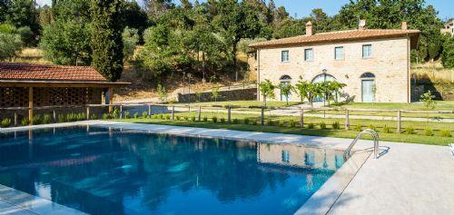 Villa pool, with gazebo and barbecue area