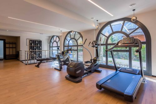 Keep up with your training regimen in the fitness room