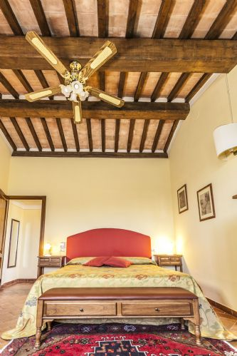 Part of the detail and features of the bedrooms, chestnut beams, teracotta etc