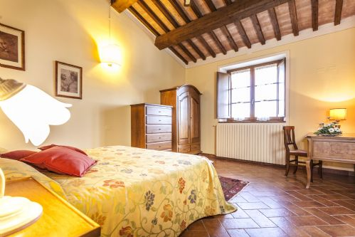 Each bedroom, unique and full of Tuscan features