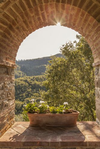 Part of the renovation included arches with views