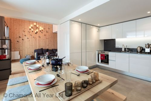Open plan living dining room