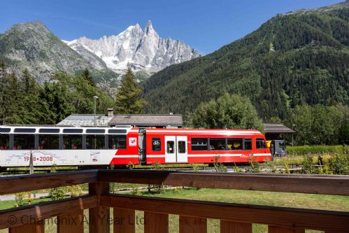 The Mont Blanc Train station close by
