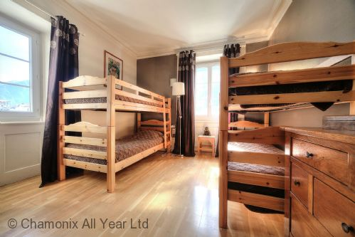 Third bedroom with 2 sets of bunk beds