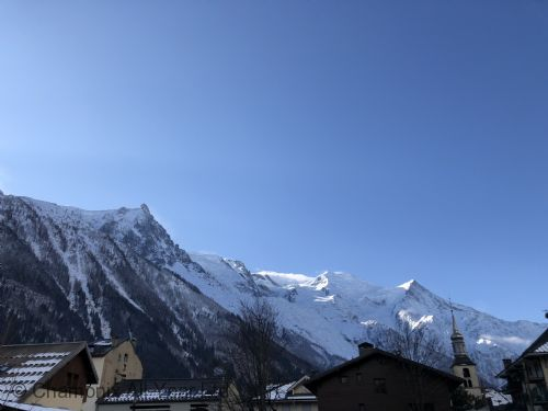 View of Mont Blanc from the apartment