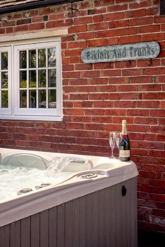 The Luxury Barn Hot Tub Detail