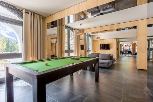 Grab a cue and play some pool on the pool table