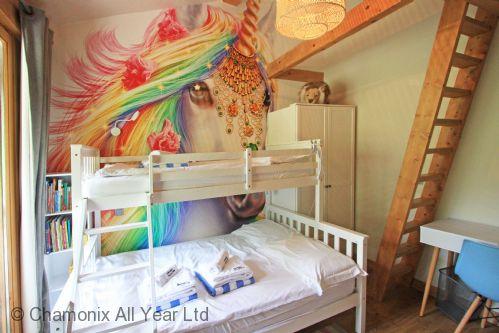 Kid's bedroom with double bunk bed