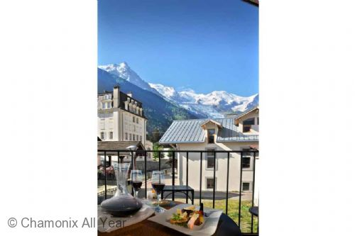 Mont Blanc views from balcony