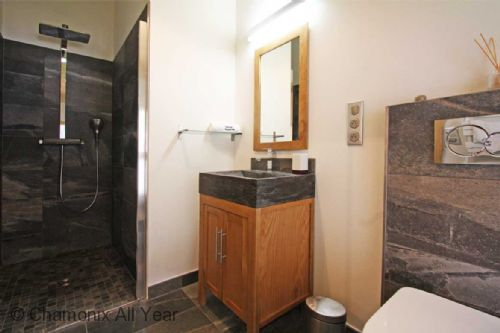 Bathroom with shower & WC