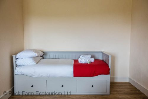 Single bed which opens up to sleep two people