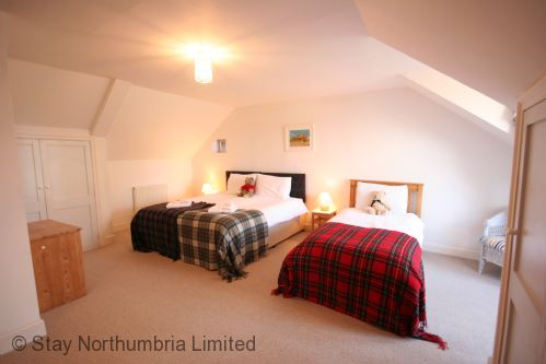 Spacious King Size Double - can be twin, with additional single bed