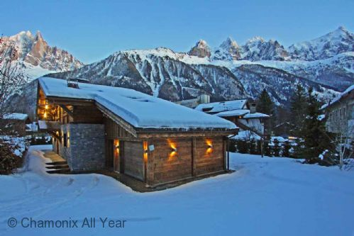 Winter view of chalet