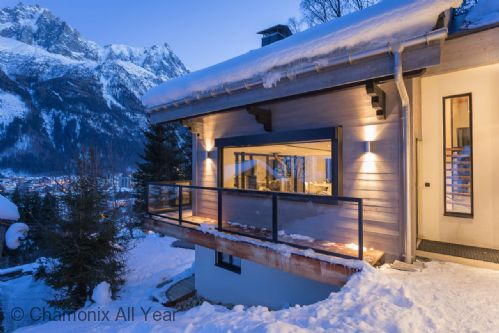 Chalet located in a private residential area