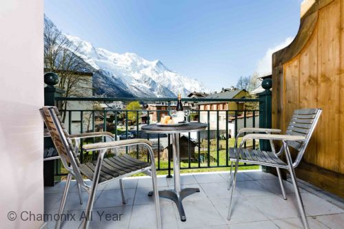 Balcony views of Mont Blanc