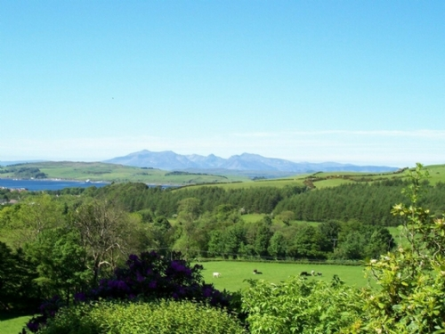 The Bell Loft, Largs, view of Arran, Cottage Holiday Group