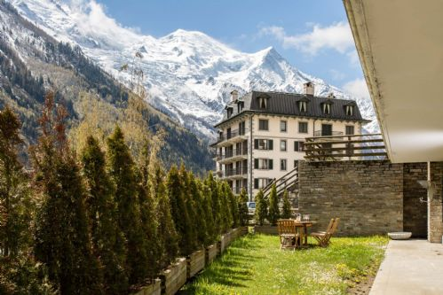 Garden views of Mont Blanc