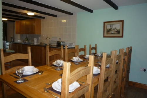 Bank End Barn, dining area, Lakes Cottage Holidays